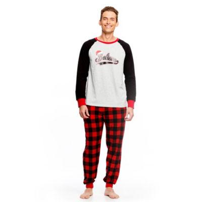 Holiday FAMJAMS Red Black Buffalo Believe 2 Piece Pajama Set -Men's