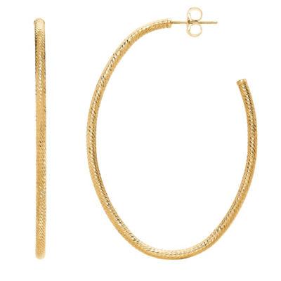 Made In Italy 14K Gold 49.7mm Hoop Earrings