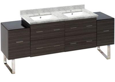 74-in. W 17-in. D Modern Plywood-Melamine Vanity Base Set Only In Dawn Grey
