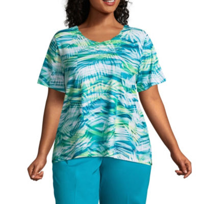 Alfred Dunner Scottsdale Abstract Leaves Tee - Plus