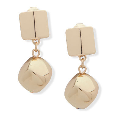 Gloria Vanderbilt Brass Clip On Earrings