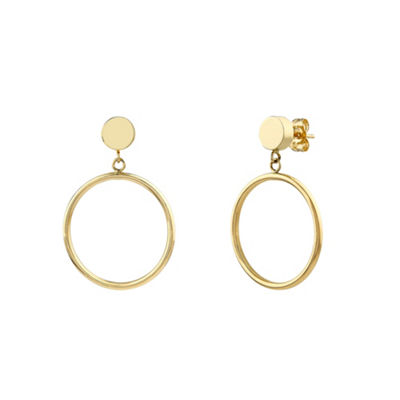 14K Gold 28mm Hoop Earrings