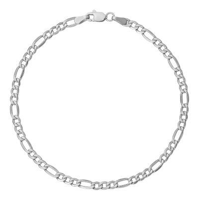14K Gold 7 Inch Semisolid Figaro Chain Bracelet
