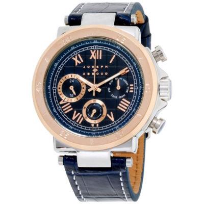 Joseph Abboud Mens Blue Strap Watch-Ja3165s648-104