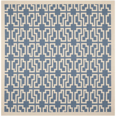 Safavieh Courtyard Collection Eddie Geometric Indoor/Outdoor Square Area Rug