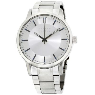 Joseph Abboud Mens Silver Tone Watch-Ja3190s648-004