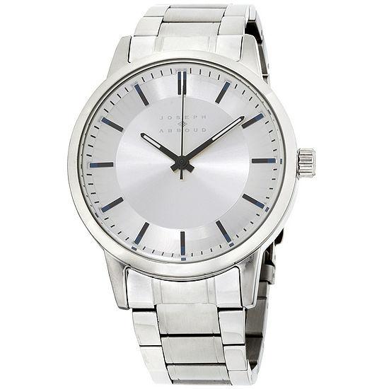 Joseph Abboud Mens Silver Tone Strap Watch-Ja3190s648-004