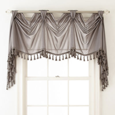 Royal Velvet® Plaza Thermal Interlined Rod-Pocket Victory Valance