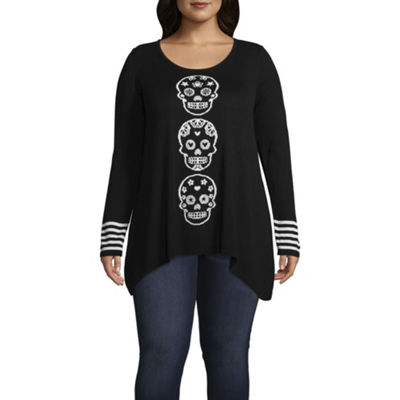 Unity World Wear Skull Pullover Sweater - Plus