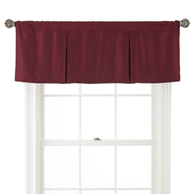 JCPenney Home Supreme Rod-Pocket Box Pleat Valance