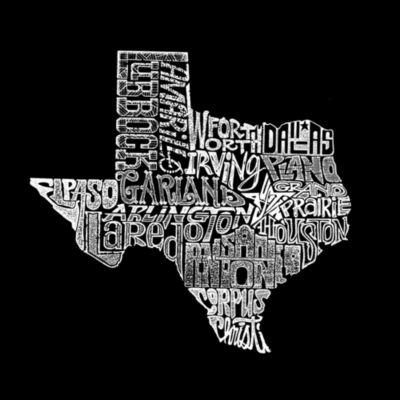 Los Angeles Pop Art Women's Raglan Word Art T-shirt - The Great State of Texas
