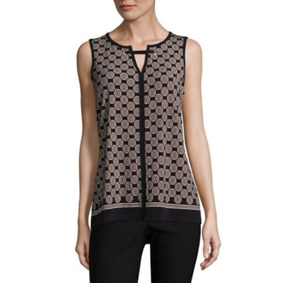 Liz Claiborne Sleeveless Grommet Knit Blouse