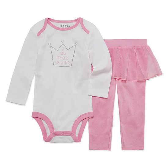 5a599c42a585 Okie Dokie Princess Long Sleeve Bodysuit and Tutu Pant Set - Baby Girl  NB-24M - JCPenney