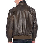 Vintage Leather Nappa Aviator Jacket with Zip Out Lining