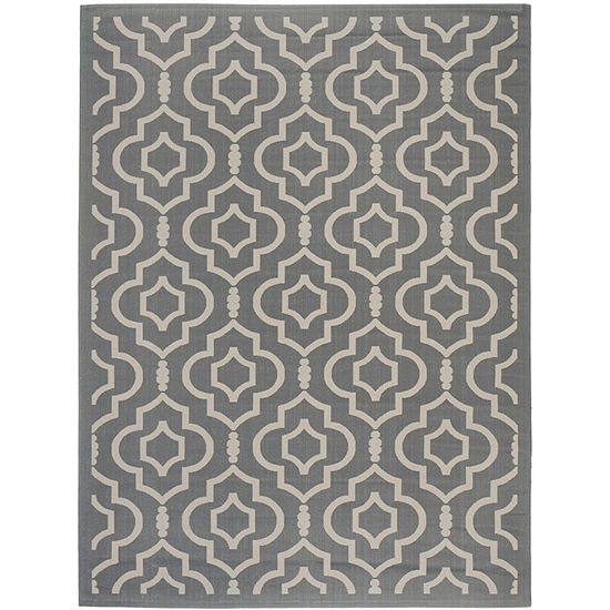 Safavieh Courtyard Collection Meryll Geometric Indoor/Outdoor Area Rug