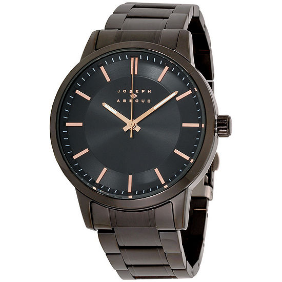 Joseph Abboud Mens Black Strap Watch-Ja3190bk648-264