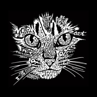 Los Angeles Pop Art Women's Raglan Word Art T-shirt - Cat Face