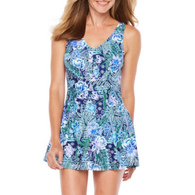 Azul by Maxine of Hollywood Pattern Swim Dress