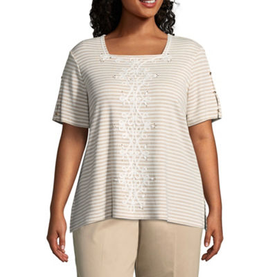 Alfred Dunner Scottsdale Ribbon Stripe Tee - Plus