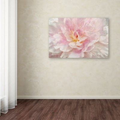 Trademark Fine Art Cora Niele Pink Peony Giclee Canvas Art