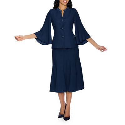 Giovanna Signature Women's Bell Sleeve 2-pc Skirt Suit