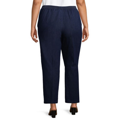 Alfred Dunner Out of the Blue Classic Pant - Plus Short