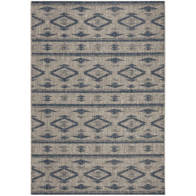 Safavieh Courtyard Collection Easton Geometric Indoor/Outdoor Area Rug