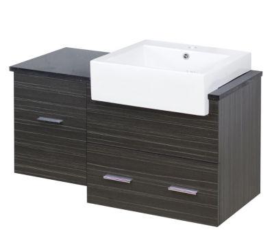 36.75-in. W 18-in. D Modern Wall Mount Plywood-Melamine Vanity Base Set Only In Dawn Grey