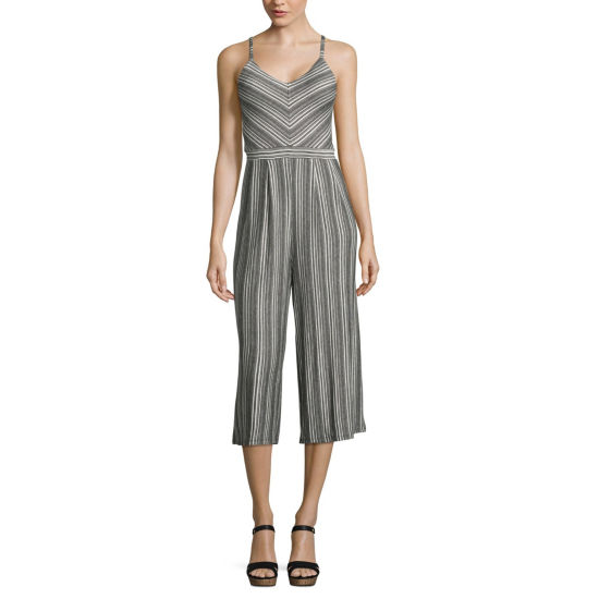 Eyeshadow Sleeveless Jumpsuit-Juniors