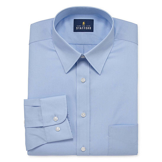 Stafford Mens Wrinkle Free Stain Resistant Stretch Super Shirt Big and Tall Dress Shirt