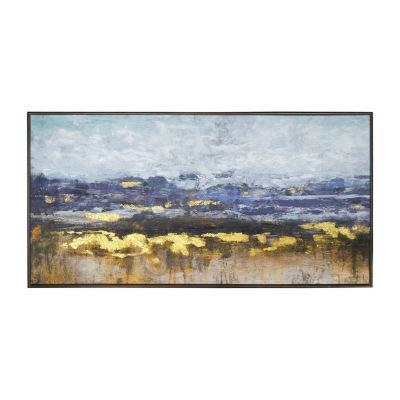 New View Purple Haze Framed Embellished Canvas Canvas Art