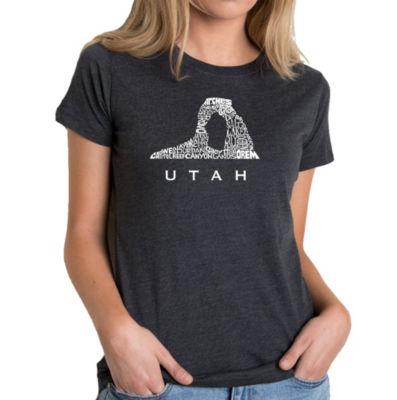 Los Angeles Pop Art Women's Premium Blend Word ArtT-shirt - Utah