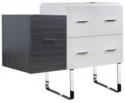 37.25-in. W 18-in. D Modern Plywood-Veneer VanityBase Set Only In White-Dawn Grey