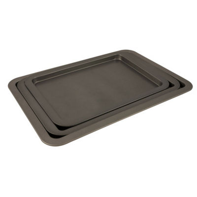 Range Kleen Nonstick Bakeware 3pc Cookie Sheet Set 3-pc. Non-Stick Cookie Sheet