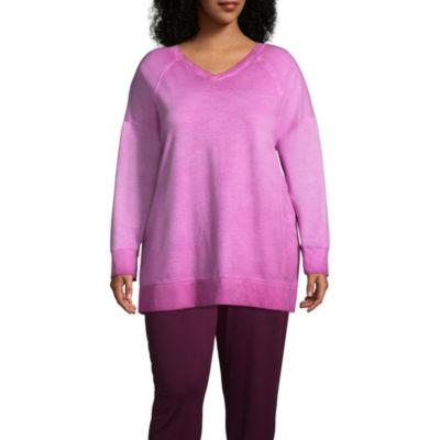 St. John's Bay Active Garment Wash Sweatshirt - Plus