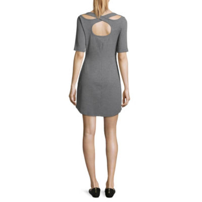Arizona Elbow Sleeve Bodycon Dress-Juniors