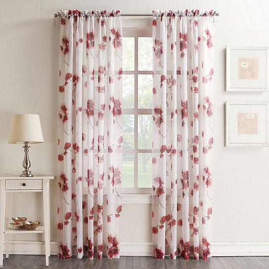 Kayla Sheer Rod-Pocket Single Curtain Panel