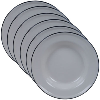 Certified International Enamelware Cream 6-pc. Dessert Plate