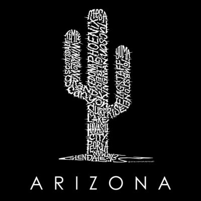Los Angeles Pop Art Women's Raglan Word Art T-shirt - Arizona Cities