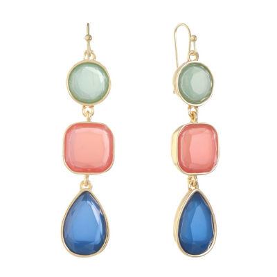 Liz Claiborne Multi Color Drop Earrings