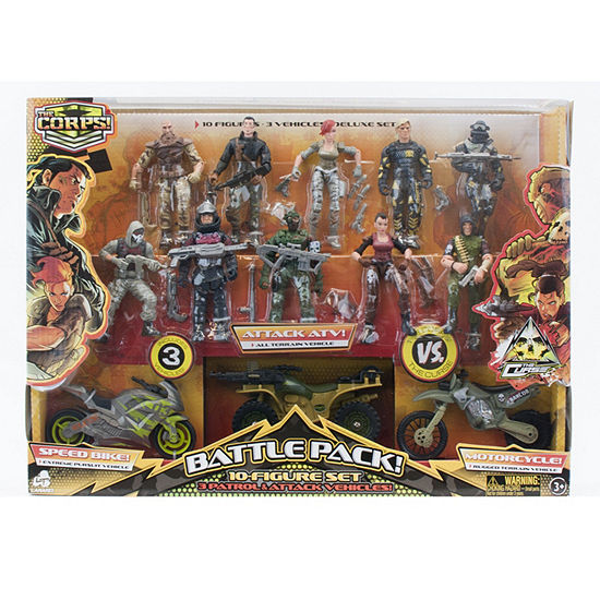 Special Forces - 10 Figures And Vehicledeluxe Set