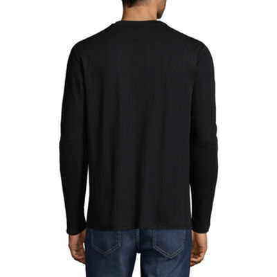 Claiborne Drop Needle Long Sleeve Henley Neck T-Shirt