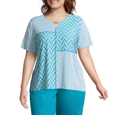 Alfred Dunner Scottsdale Spliced Texture Tee - Plus