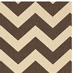 Safavieh Courtyard Collection Cennetig Chevron Indoor/Outdoor Square Area Rug