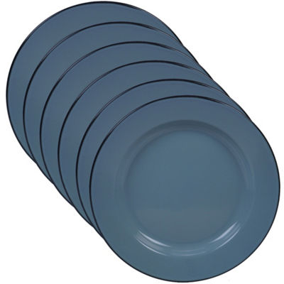 Certified International Enamelware Teal 6-pc. Dinner Plate