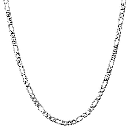 14K Gold 16 Inch Semisolid Figaro Chain Necklace