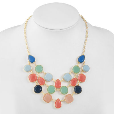 Liz Claiborne Multi Color Statement Necklace
