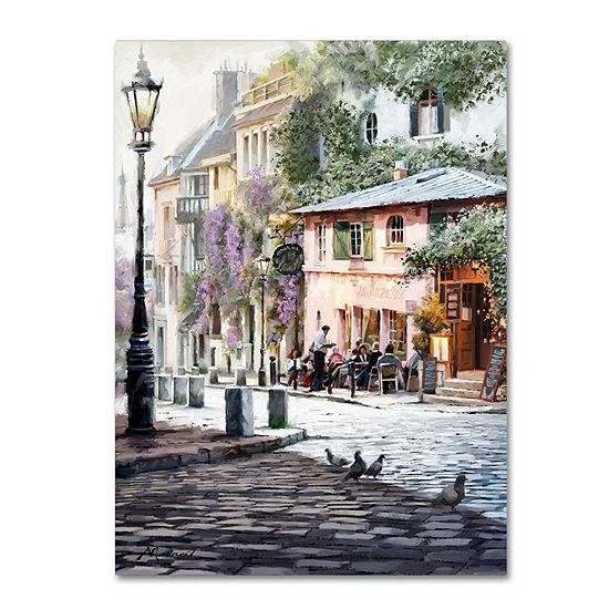 Trademark Fine Art The Macneil Studio Sunshine Café Giclee Canvas Art