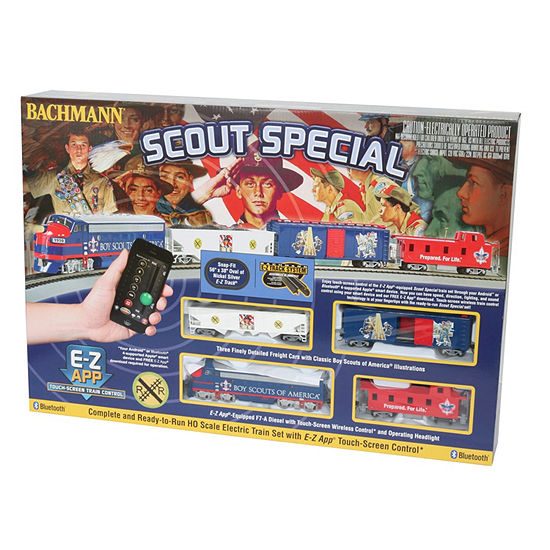 Bachmann Trains Scout Special - Boy Scouts Of America E-Z App Smart Phone Controled Electric Trainset - Ho Scale