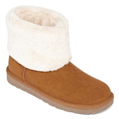 Arizona Womens Shawn Flat Heel Pull-on Winter Boots